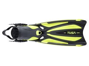 Tusa SF-22 Solla Open Heel Scuba Diving Fins - Yellow - Medium
