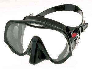 Atomic Aquatics Frameless Mask for Scuba Diving and Snorkeling - Regular Black