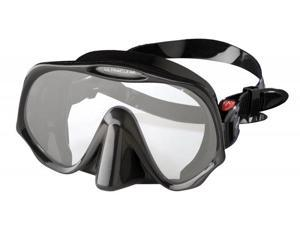 Atomic Aquatics Frameless Mask for Scuba Diving and Snorkeling - Medium Black