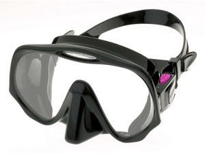 Atomic Aquatics Frameless Mask for Scuba Diving and Snorkeling - Medium Black/Pink