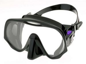 Atomic Aquatics Frameless Mask for Scuba Diving and Snorkeling - Medium Black/Purple