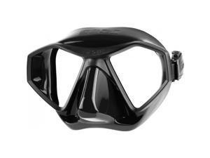 SEAC L70 Scuba Diving Silicone Dive Mask Black/Black Skirt