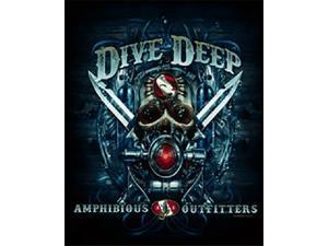 Amphibious Outfitters T-Shirt - Deep Dive - Black -Large