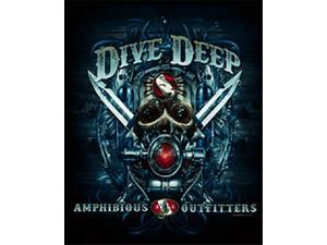 Amphibious Outfitters T-Shirt - Deep Dive - Black -Medium