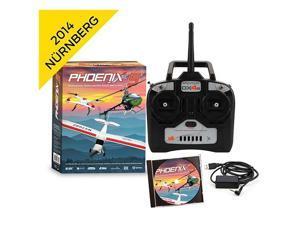 Phoenix Professional R/C Pro Flight Simulator Version 5 V5 w/ DX4e Radio MD2