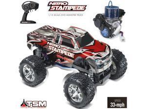 Traxxas 41096-3 1/10 Nitro Stampede 2WD Monster Truck RTR TSM w/ Radio
