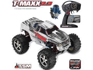 Traxxas 49077-3 1/10 Nitro T-Maxx 3.3 Monster Truck TSM 4WD RTR w/ Radio