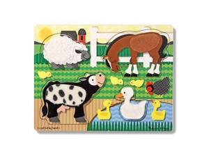 Melissa & Doug Farm Touch and Feel Puzzle
