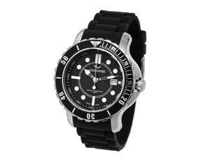 Aquaswiss 96G001 Rugged Man's Quartz Watch Stainless Steel Rubber Strap