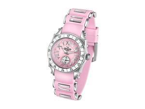 Aquaswiss 62LD007 Swissport Ladies Heart Watch with Diamonds Pink Rubber Strap