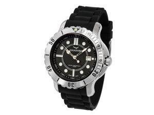 Aquasiss 96G002 Men's Quartz Watch Rugged Series Stainless Steel Case Black Rubber Strap