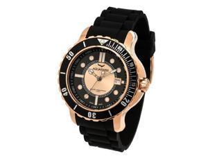 Aquasiss 96G017 Men's Quartz Watch Rugged Series Gold Tone Stainless Steel Case Black Rubber Strap
