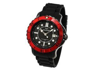 Aquasiss 96G033 Men's Quartz Watch Rugged Series Black Stainless Steel Case Black Rubber Strap