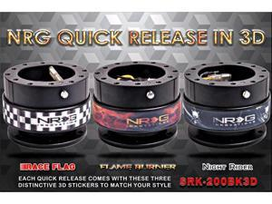 NRG Innovations Steering Wheel Quick Release(Black Body w/ 3 pcs 3D Stickers) Gen 2.0 3DLimited Edition   JDM  USDM