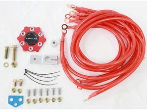 Nrg Ground Kit Gk-100 RED 6-Point grounding System Nrg Innovations