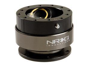 NRG Quick Release unit Gen 2.0 - Srk-200BK (Black Body w/ Titanium Chrome Ring) NRG Innovations Steering Wheel Quick ...