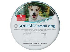 Seresto Flea & Tick 8 Month Collar for Small Dogs Under 18 lbs