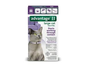 Advantage II for Cats Over 9 lbs. 2 pack (2 Doses) Genuine EPA, USA Product