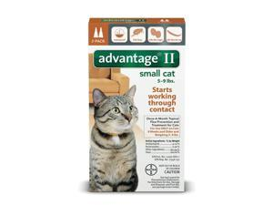 Advantage II for Cats 5-9 lbs. 2 pack (2 Doses) Genuine EPA, USA Product