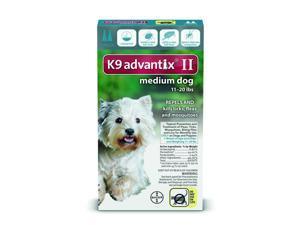 K9 Advantix II for Dogs 11-20 lbs Repels and Kills Fleas, Ticks & Mosquitos 2pk