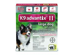 K9 Advantix II Dogs 21-55 lb 4 Pack (4 Month Supply)