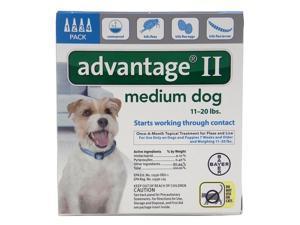 Advantage II for Dogs 11-20 lbs 4pk