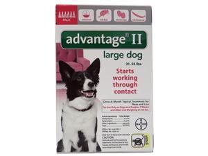 Advantage II for Dogs 21-55 lbs 6pk
