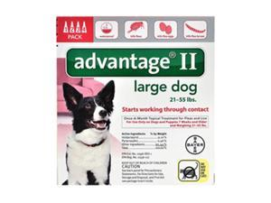 Advantage II for Dogs 21-55 lbs 4pk
