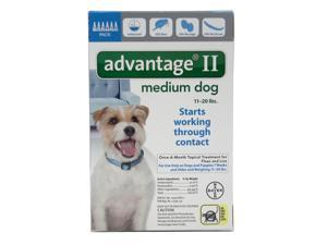 Advantage II for Dogs 11-20 lbs 6pk