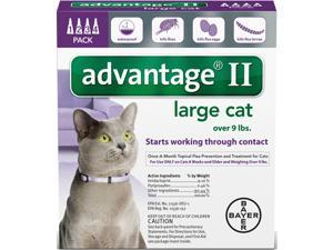 Advantage II for Cats Over 9 lbs 4pk