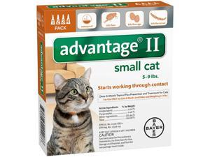 Advantage II for Cats 5-9 lbs 4pk (4 Month Supply)