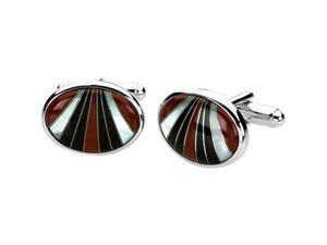 Multicolor Gemstone Cuff Links