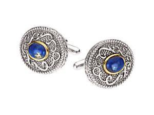 Genuine Cabochon Lapis Cuff Links