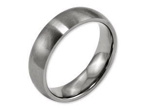 Titanium Brushed Comfort Fit 6mm Wedding Comfort Fit Wedding Band Ring (SIZE 7.5 )