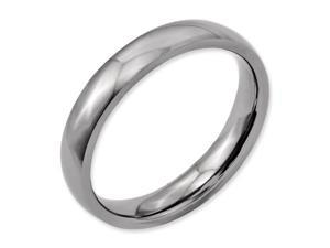 Titanium Polished Comfort Fit 4mm Wedding Comfort Fit Wedding Band Ring (SIZE 8.5 )