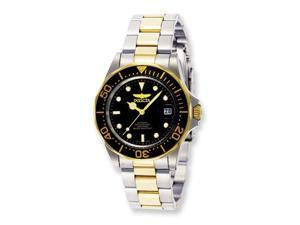 Mens Invicta Pro Diver 2-Tone Black Dial Watch