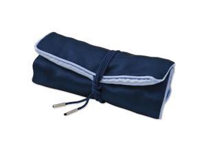 Pack of 5, Dark Blue with Light Blue Trim Jewelry Roll