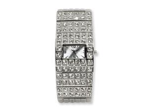 Ladies Simon Chang IPB-plated Crystalstal MOP Dial Watch