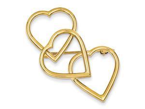14K Yellow Gold  Designer Pin