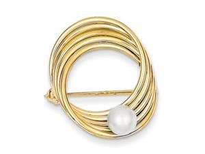 14K Yellow Gold  Freshwater Cultured Pearl Pin