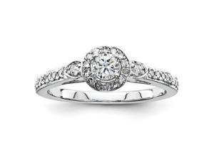 Sterling Silver  Silvadium Diamond S/M Engagement Ring
