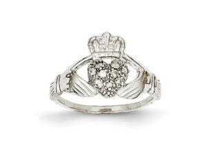 14k White Gold hite Gold Claddagh Ring Mounting, Stones Not Included