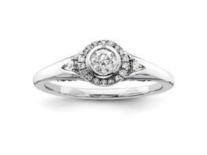 14k White Gold hite Gold Diamond Semi-mount Engagement Ring, No Center Stone Included
