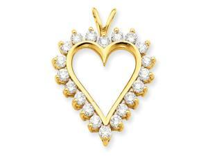 14K Yellow Gold  Diamond Heart Mtg
