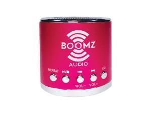 BOOMZ Audio is the revolutionary new mini speaker that allows you to play music (MP3) with any smart phone, media device, laptop, or tablet anywhere, anytime. (Micro SD card not included).
