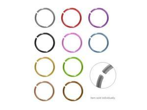 Anodized Titanium Nose Hoop Rings (Dark Bronze Titanium)