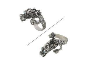 Dragon Finger Ring with Light Blue Jewels for Eyes