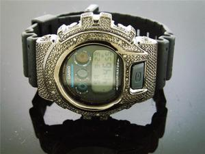Men Casio G Shock 0.25CT Diamond Black Face Watch 6900