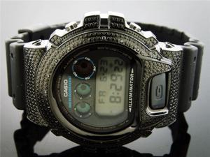 Men Casio G Shock 0.15CT Diamond Black Face Watch 6900