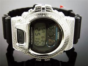 Men Casio G Shock 0.12CT Diamond Black Face Watch 6900